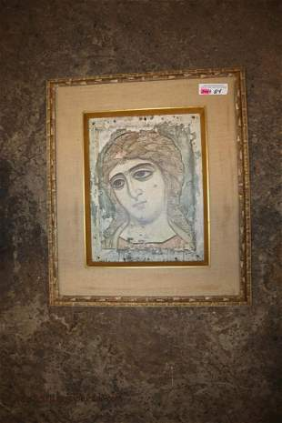 """Indian style portrait approx. 19"""" w x 23"""" h"""