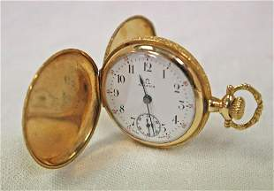 14K gold omega petite pocket watch, working