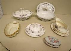 Victorian dinnerware incl blue mark Lenox