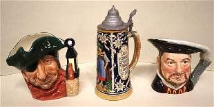 Royal Doulton mugs,German stein music box