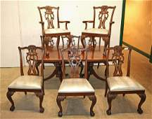 Ethan Allen 9pc Chippendale Style Dining Room Set