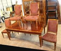 Ethan Allen 7pc dining room table & chairs