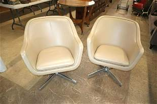 PR Swivel Leather Bumper Lounge Chairs, Geiger
