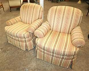 Pair of Century swivel club chairs
