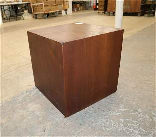 Mid century modern Danish walnut cubic lamp table