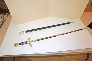 German Style sword with sheath