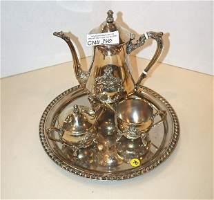 4pc Silver-plate tea set