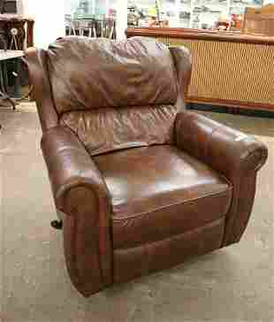 Leather rocking reclining chair