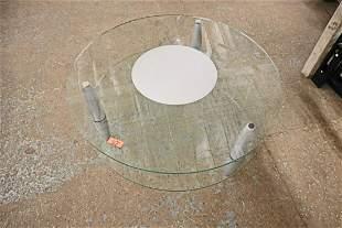 Ultra modern glass top coffee table