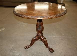 Maitland Smith mahogany inlaid center table