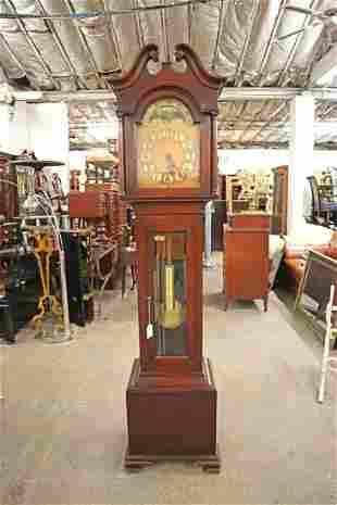 Semi Ant. Mahogany Grandfather Clock