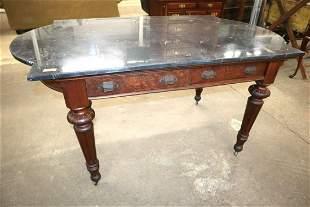 Antique Victorian walnut MT 2 drawer work table