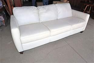 Natuzzi edition Italian white leather sofa