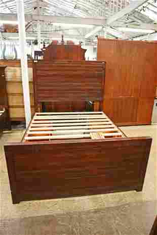 Cont. mahogany 4 drawer queen size storage bed