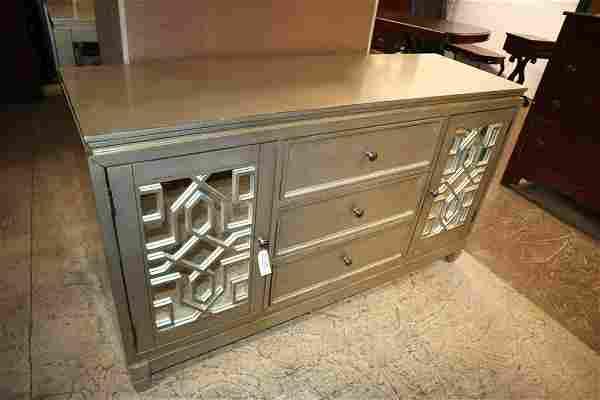 Modern des polychrome 3 drawer 2 door buffet