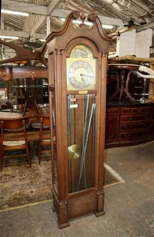 Colonial mahogany grandfather clock