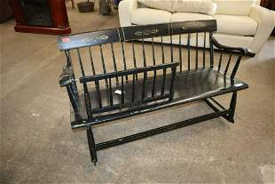 Antique 19th century mommy baby cradle bench