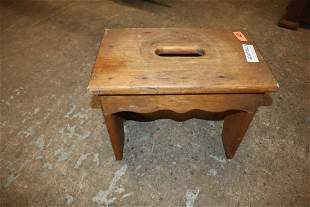 Country pine cupboard stool