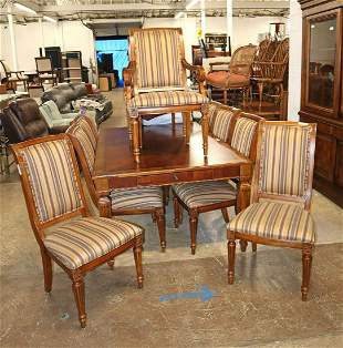 Ethan Allen 11pc Dining room table and 10 chairs