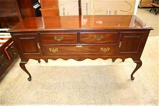 Ethan Allen 3 drawer 2 door mahogany brandy board
