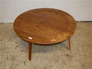"Herman Miller 34"" Danish walnut cocktail table"
