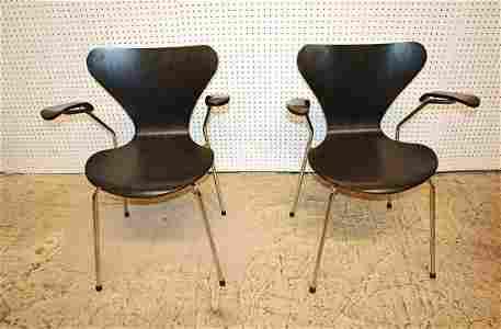 PR Arnie Jacobsen series 7 style bentwood chairs