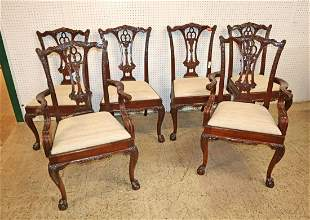 Set of 6 marked Georgian solid mahogany chairs