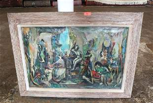 MCM oil on canvas signed Sal Weinstock