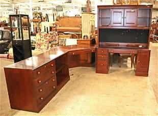 5pc Ethan Allen cherry modular computer desk