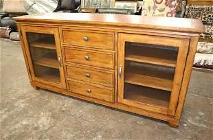Ethan Allen 3 drawer 2 door media cabinet