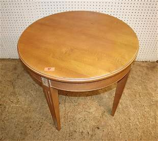 Ethan Allen pale mahogany round end table