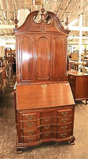 Maddox 2pc solid mahogany secretary bookcase