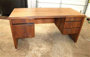 MCM Danish walnut Dillingham 5 drawer desk