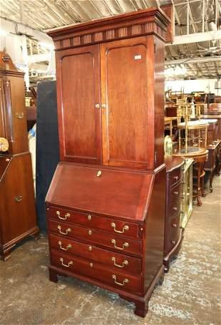 Jasper mahogany slant front secretary bookcase