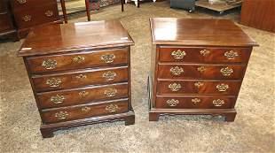 PR Drexel solid mahogany 4 drawer nightstands