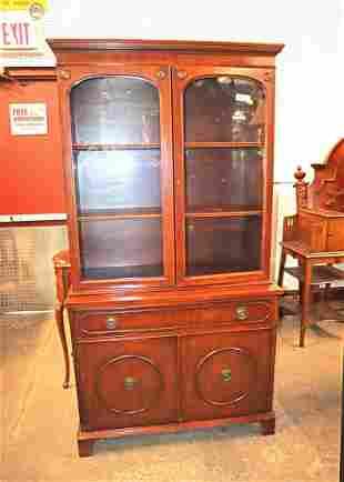 Vintage mahogany 1 drawer 4 door china