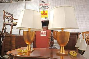 PR quality mod des gold lamps w/shades marked BZ