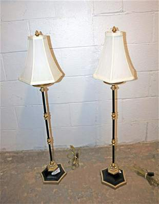 PR quality gold/black candle stick lamps