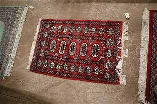 Semi antique handmade wool oriental rug