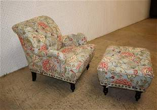 2pc Pier 1 imports club chair & ottoman
