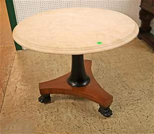 MT walnut base paw foot center table