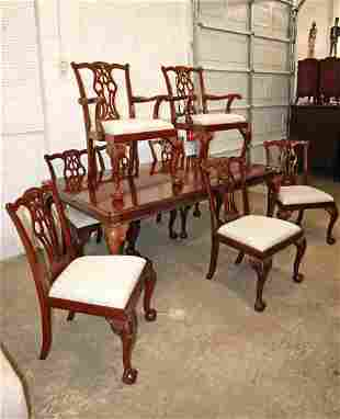 Lexington 9pc DR table and 8 chairs