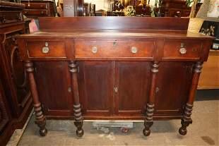 Antique empire 3 drawer 4 door mah sideboard