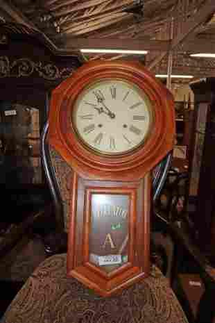 Antique oak Regulator wall clock