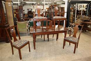 7pc Cherry dining room table + 6 chairs