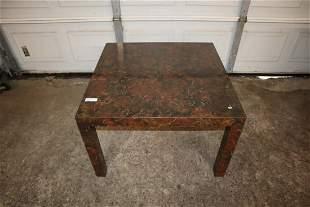 MCM burl walnut coffee table