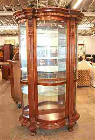 Pulaski oak curio cabinet