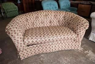 Ethan Allen arched back upholstered loveseat