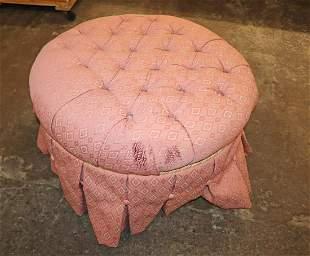 Ethan Allen skirted upholstered ottoman