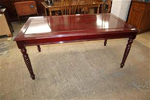 Asian hardwood turn leg library table